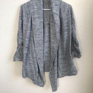 Althleta woman's XS gray 3/4 sleeve open cardigan